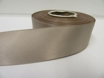 Taupe Satin ribbon Double sided 3mm 7mm 10mm 15mm 25mm 38mm 50mm Roll Bow